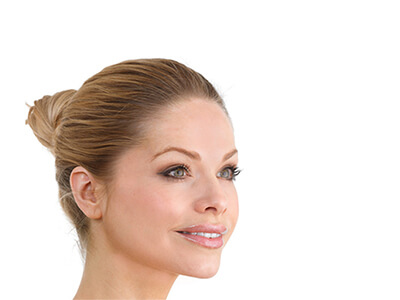Woman face, side profile