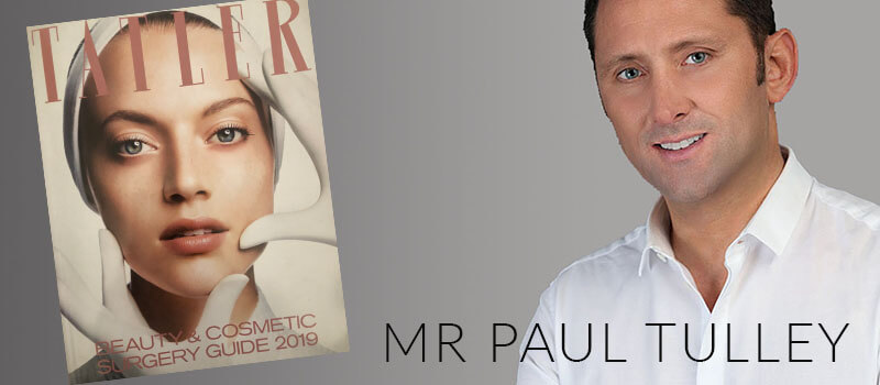 London cosmetic surgeon in Tatler Beauty and Cosmetic Surgery Guide 2019